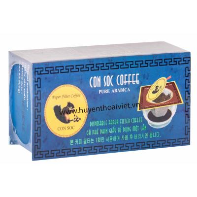 Cà phê Con Sóc phin lọc ĐƠN XANH