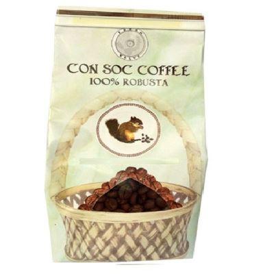 Cà phê con sóc hạt Robusta 200gram